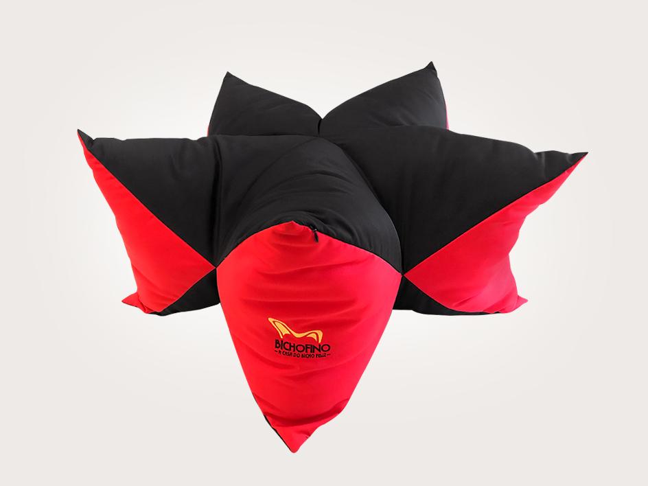 Cama Superstar Preto e Vermelho